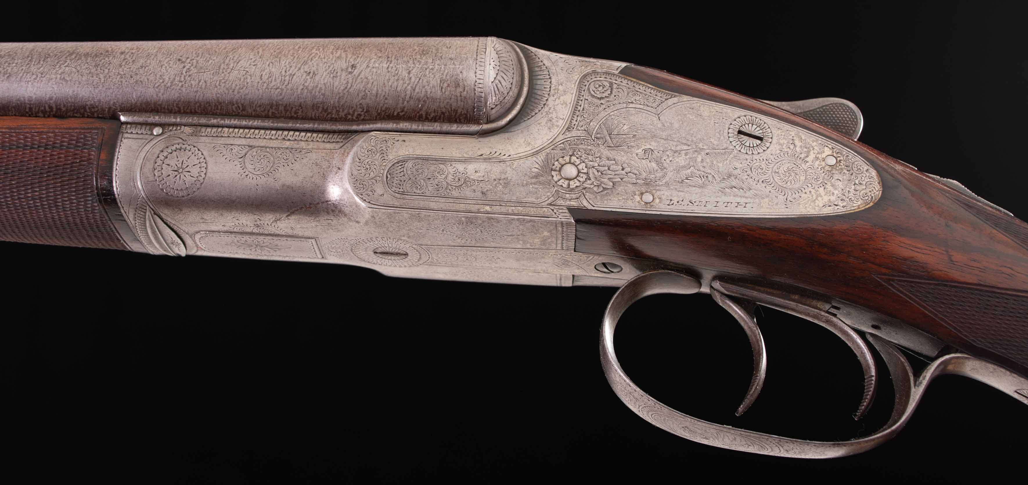 "L.C. Smith Quality A-1 Shotgun - RARE 16 Gauge, 1 OF 10 MADE, FIGURED ENGLISH WALNUT, 28"" DAMASCUS"